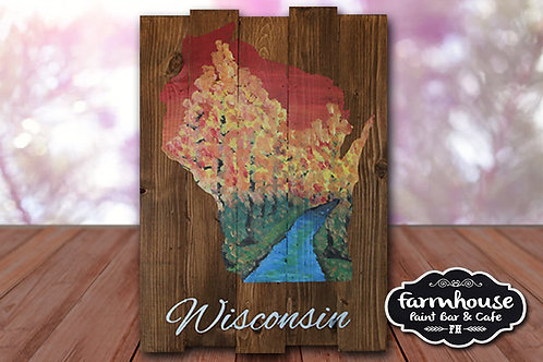 Wisconsin Fall - Wood Sign Experience