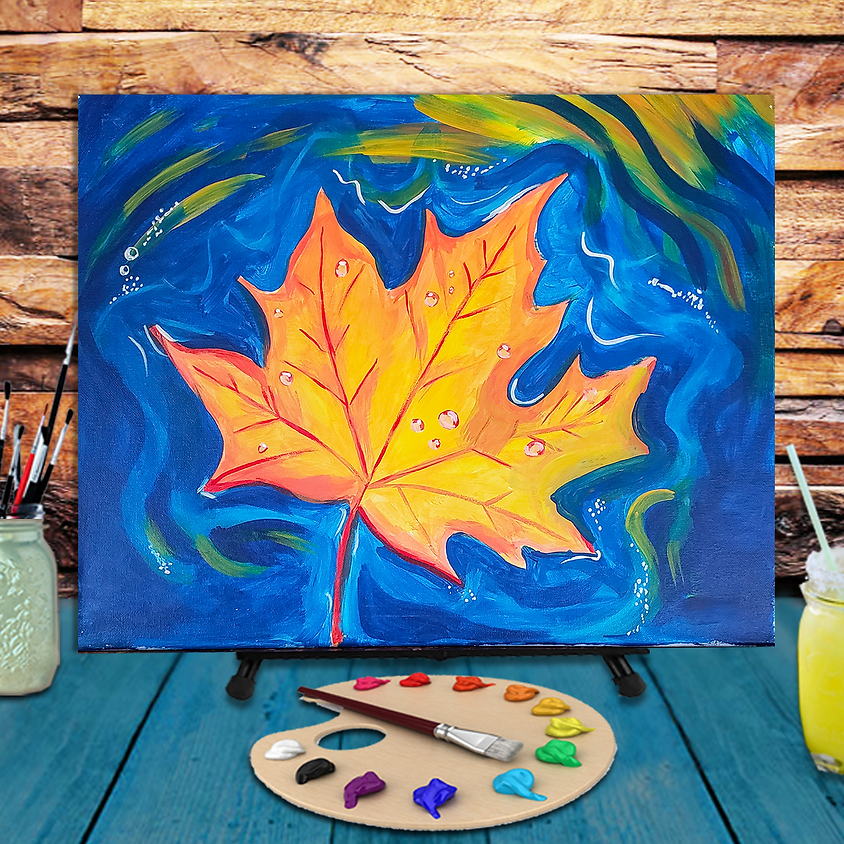 Maple Leaf - Step by Step Painting Class