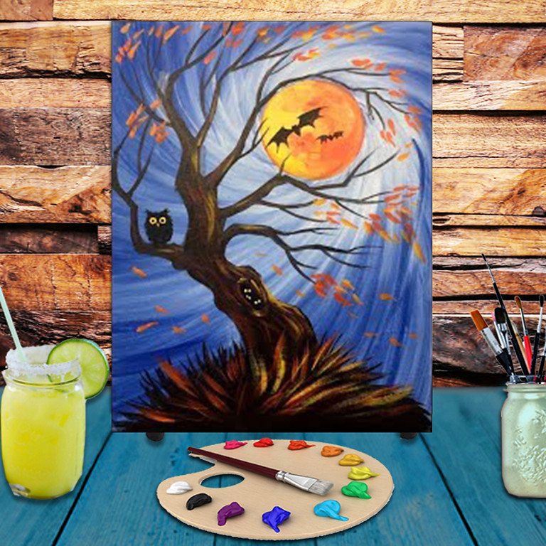 Spooky Winds -  Step by Step Painting Class