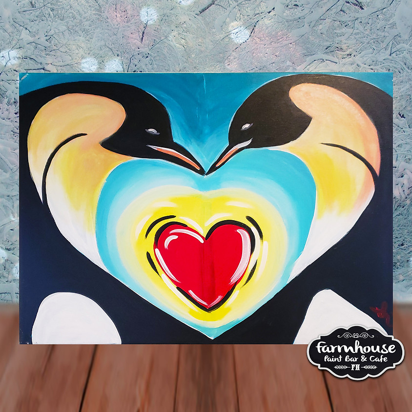 Penguin Heart - Step by Step Painting Class