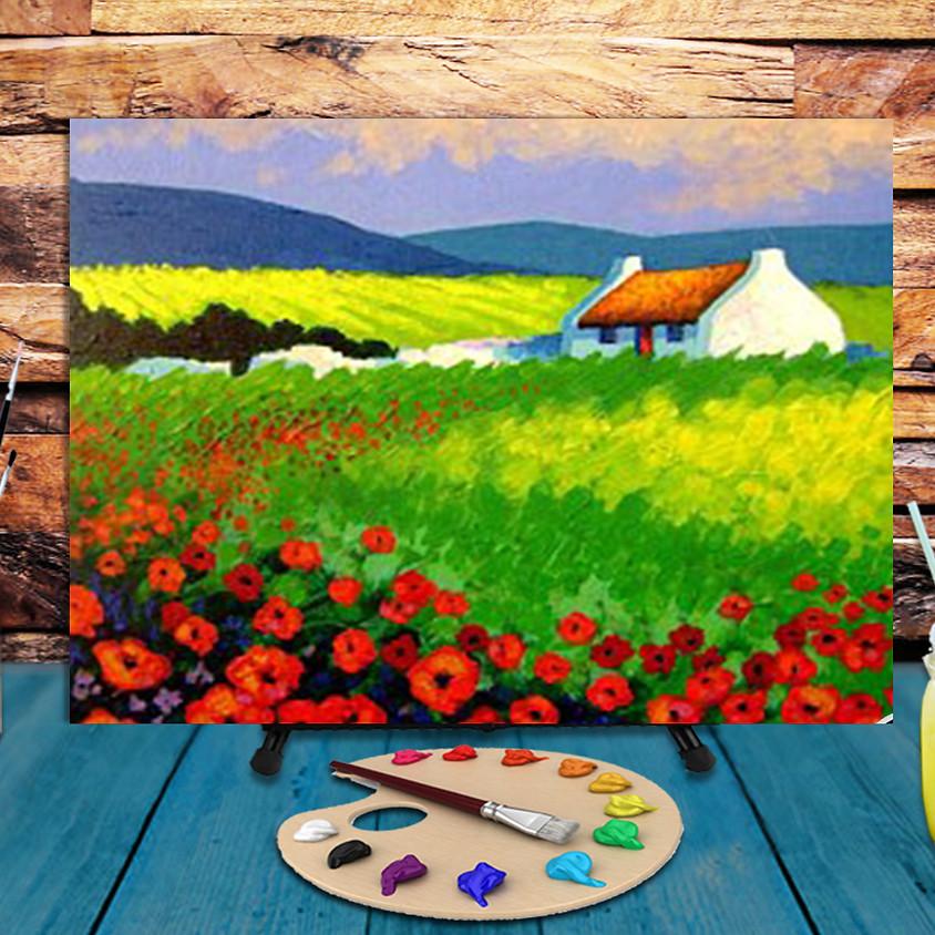 Irish Landscape -  Virtual Step by Step Painting Class