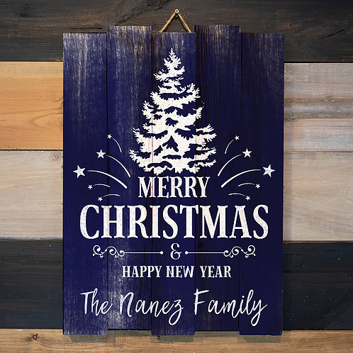 Custom Last Name Merry Christmas 2 - Woodsign Making Experience