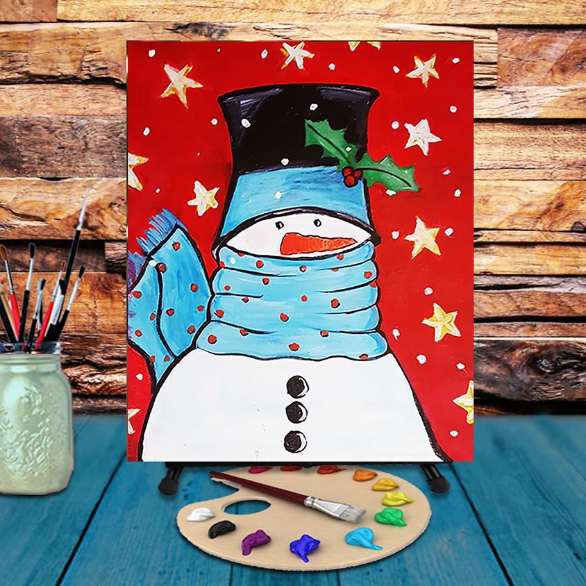 Fashion Snowman - Virtual Step by Step Painting Class