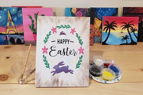 Happy Easter Wood Sign Experience