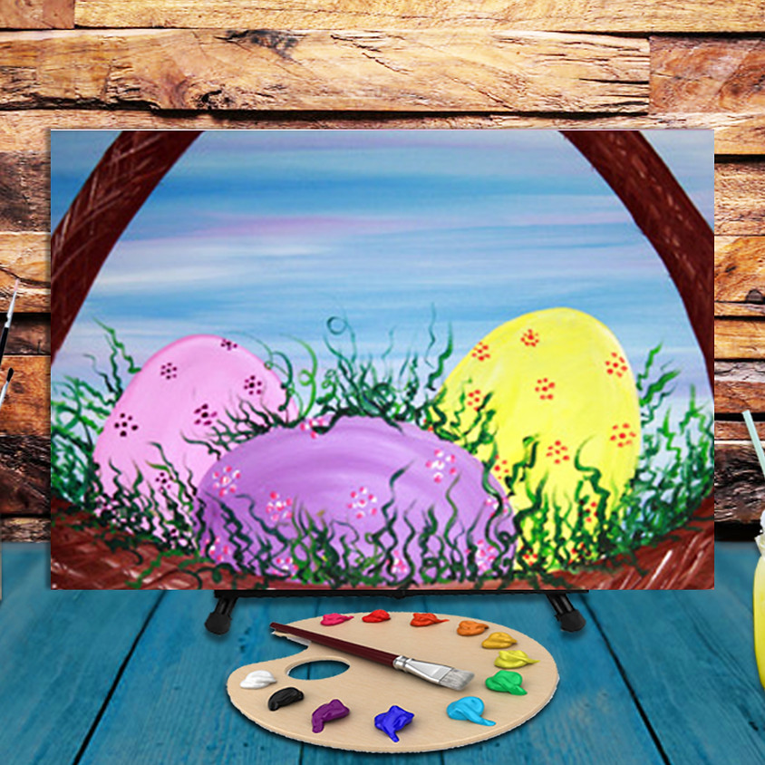 Easter Eggs -  Step by Step Painting Class