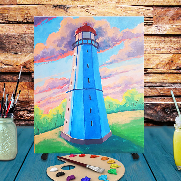 Lighthouse -  Step by Step Painting Class
