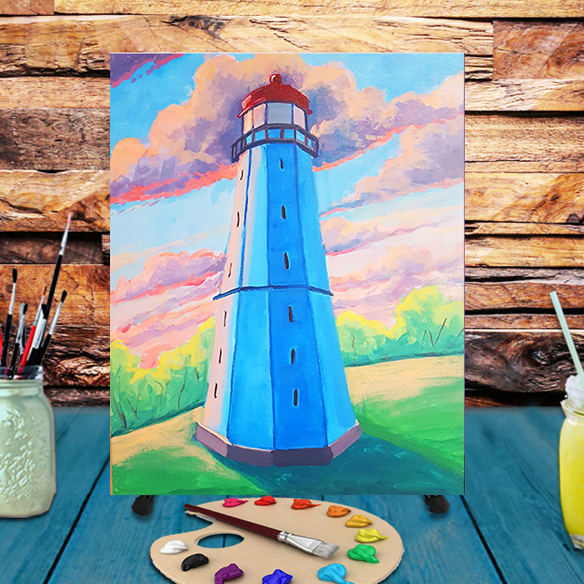 Lighthouse - Virtual Step by Step Painting Class