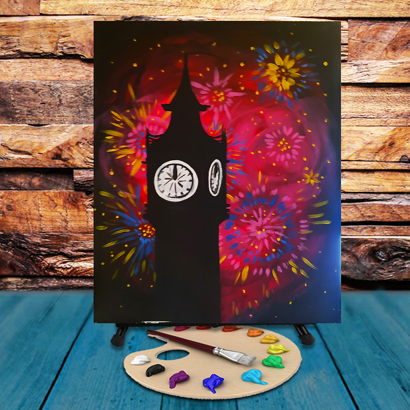 Midnight Countdown -  Step by Step Painting Class