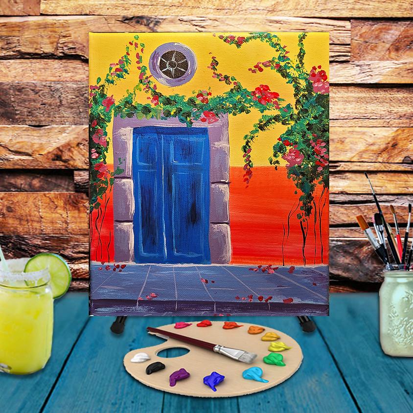 Blue Door - Step by Step Painting