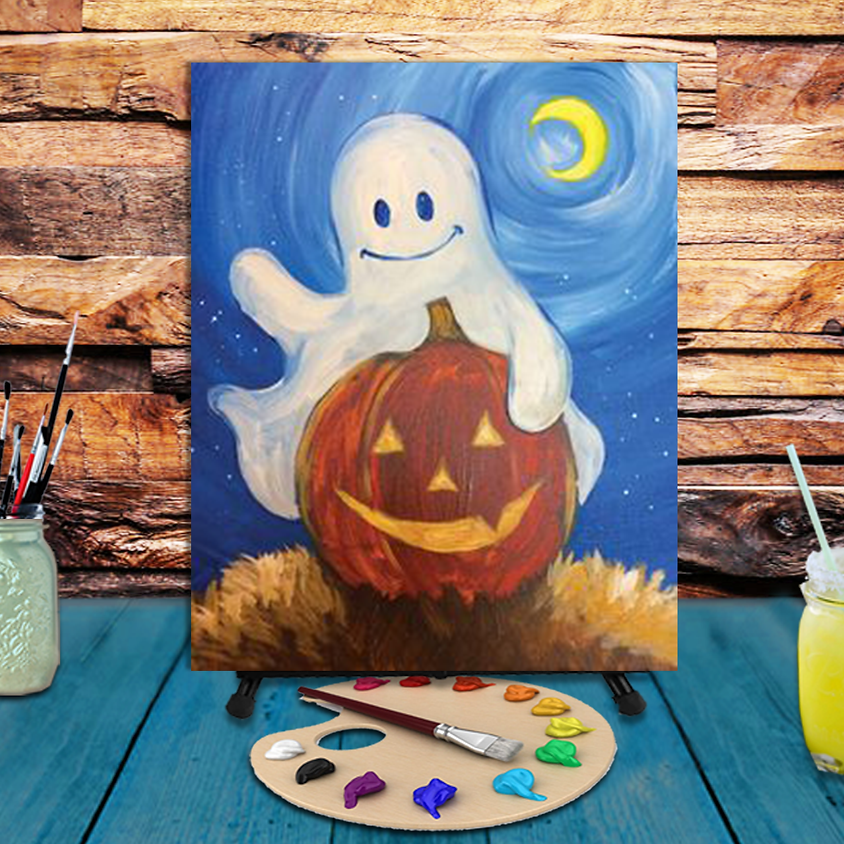 Boo Greetings -  Step by Step Painting Class