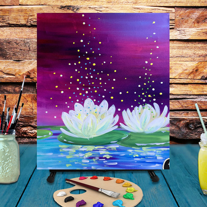 Magical Lilys - Virtual Step by Step Painting Class