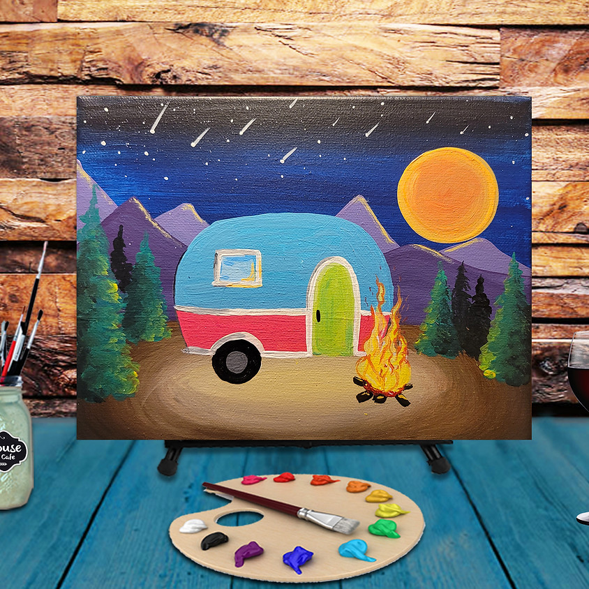 Camping Trip - Virtual Step by Step Painting Class