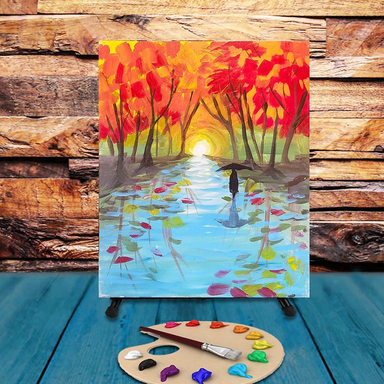 Fall Rains - Virtual Step by Step Painting Class
