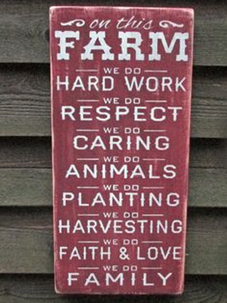 On this Farm - Wood Sign Making Experience