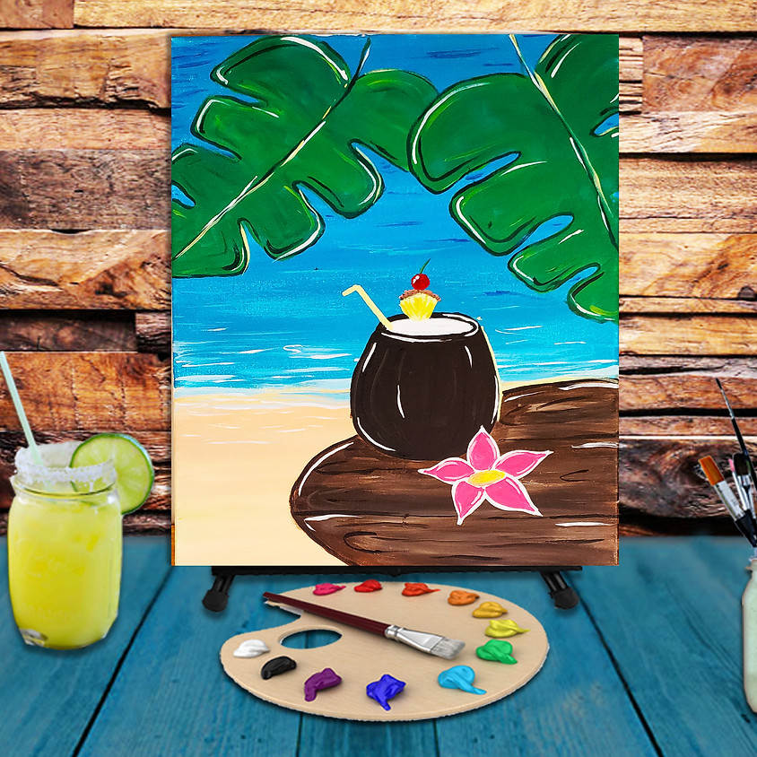 Pina Colada - Virtual Step by Step Painting Class