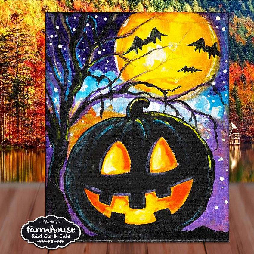 Customer Appreciation - Spooky Night -  Step by Step Painting Class