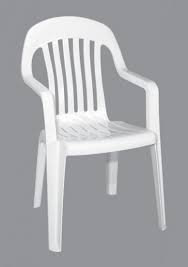 Chair - White Bistro Arm