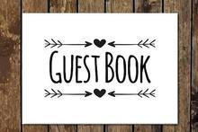 B & W Guest Book