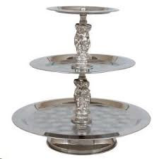 Tray Round - 3 Tier Stainless Steel