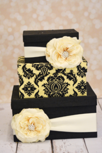 Black & White Tiered Boxes
