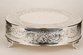 """Cake Stand - Round Silver 18"""""""
