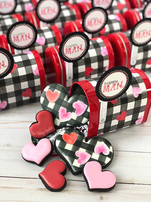 Happy Mail - Set of 6 CHOCOLATE Hearts