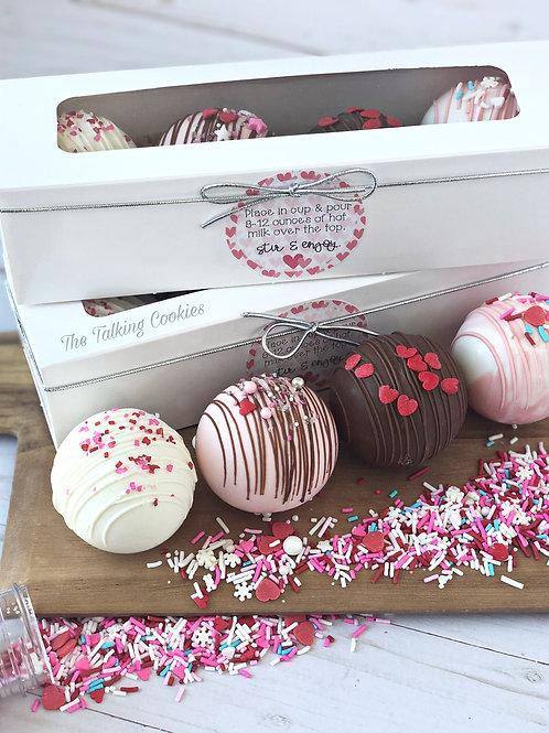 4-PACK Valentine Hot Cocoa Bomb