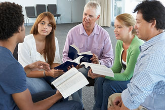 A small group meeting at Gate Church International
