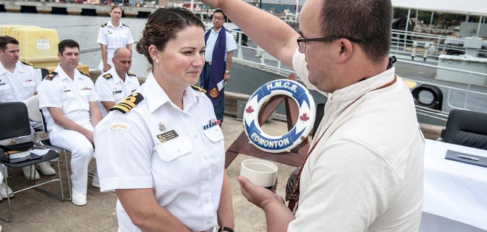 Change of Command - HMCS Edmonton