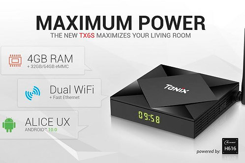 Tanix TX6S 4G/32Gb Android 10 Media box