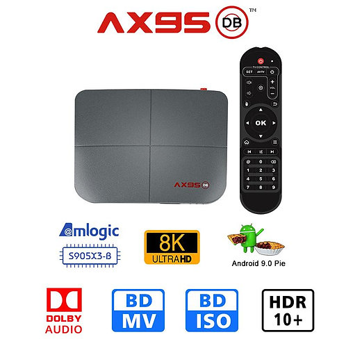 A95X DB 4G 64GB Google TV Amlogic S905X3-B   8K Res.