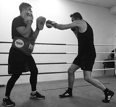 Boxing training in the ring with MMA Personal Training Bondi