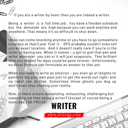 Writer - Mystqx