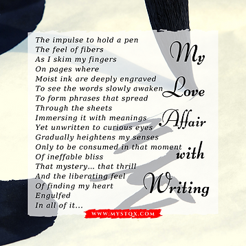 My love affair with writing