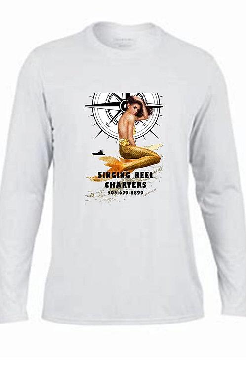 Singing Reel Charters Mermaid  Performance Long Sleeve  shirt.