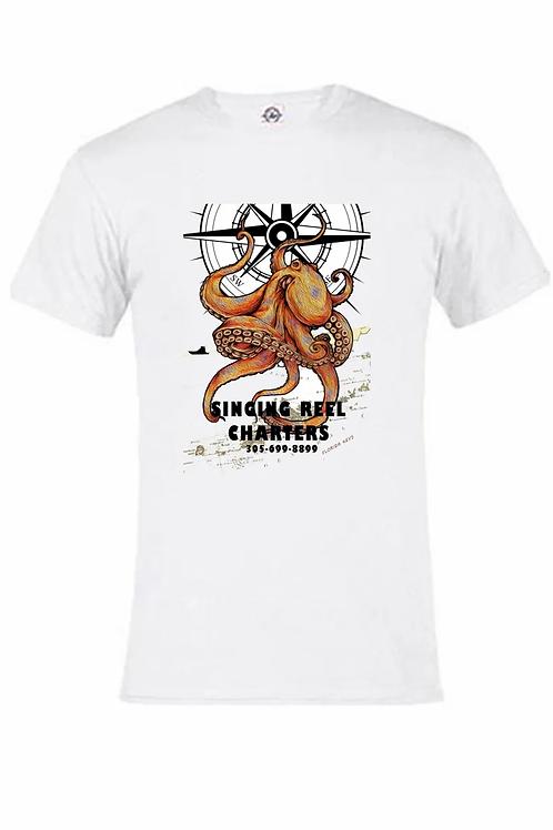 Octopus Singing Reel Charters UV Performance short sleeve T-shirt
