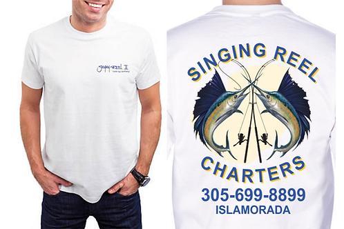 Singing Reel Charter Short Sleeve UV Performance T-shirt