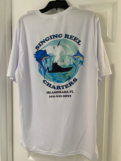Singing Reel Charters 2020 Image UV performance  short sleeve T-shirt
