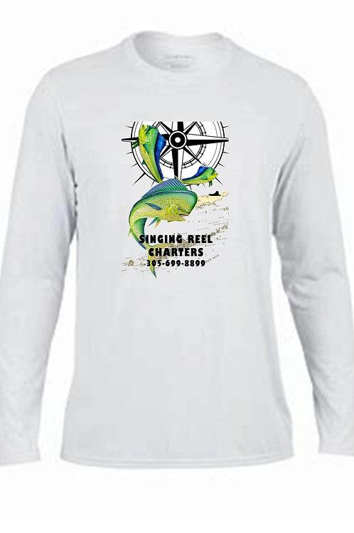 Singing Reel Charters Mahi Mahi Performance Long Sleeve  shirt.