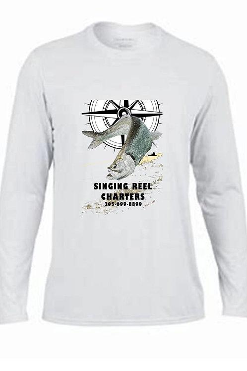 Singing Reel Charters Tarpon Performance Long Sleeve  shirt.