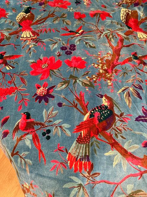 "Velvet Aqua ""Birds of a Feather"""