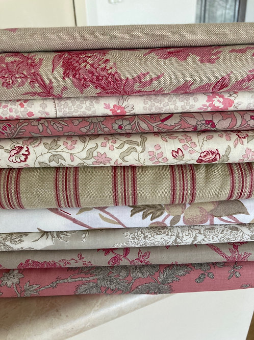 Pink/Beige Fat Quarter Bundle