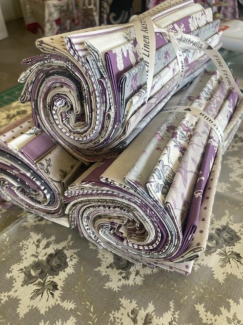 20 piece purple/grey Fat Quarter Bundle