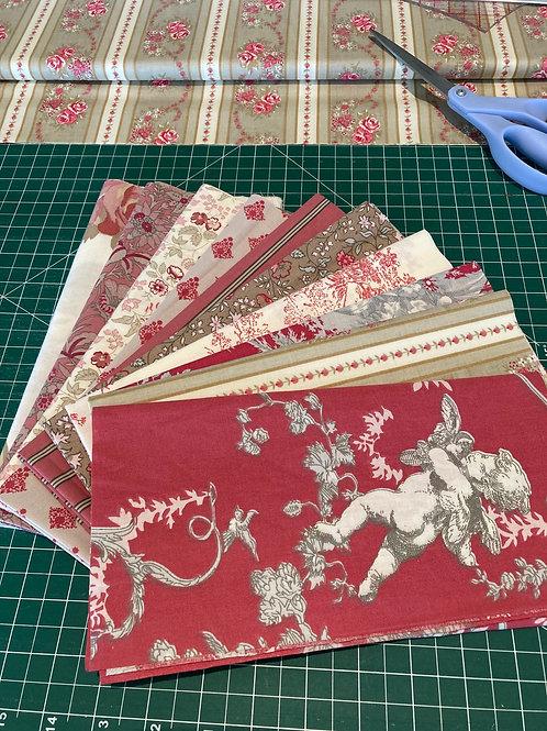 All Cotton Red Fat Quarter Bundle