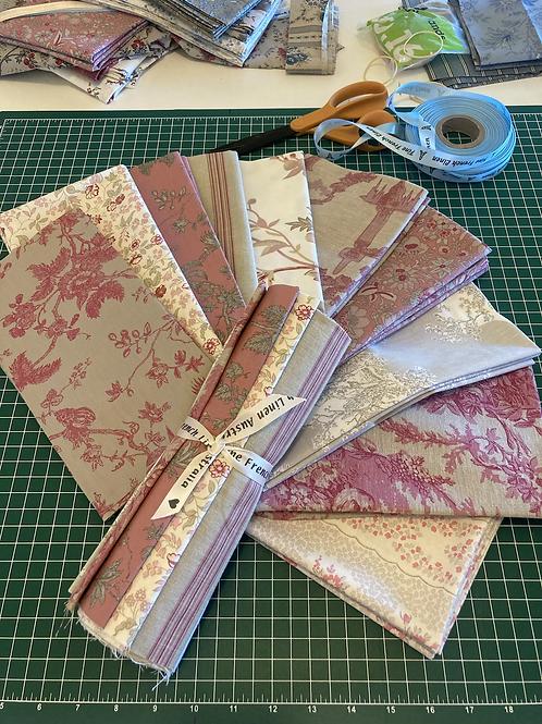 Pink/Beige Fat Quarter Bundle