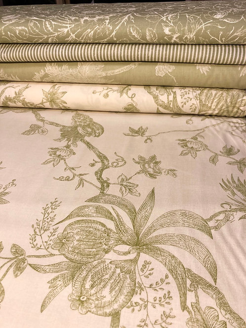 Anna Ivory Green Large Scale Print