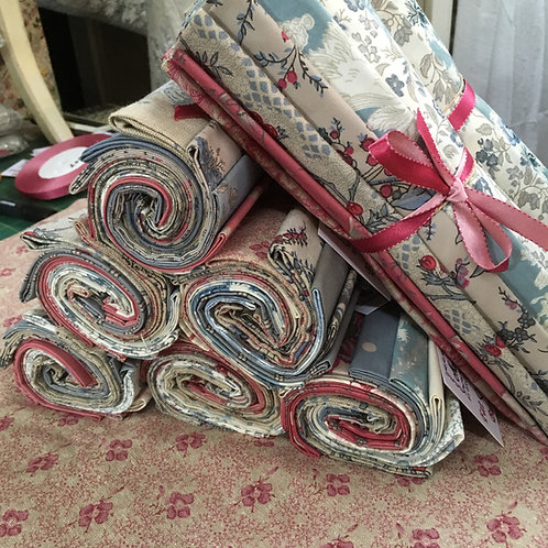 Mixed Fat Quarter Bundle Red and Blue.