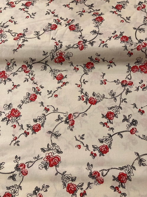 Alice Ivory Charcoal Red