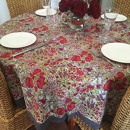 Couleur Nature Jardin Round Table Cloth