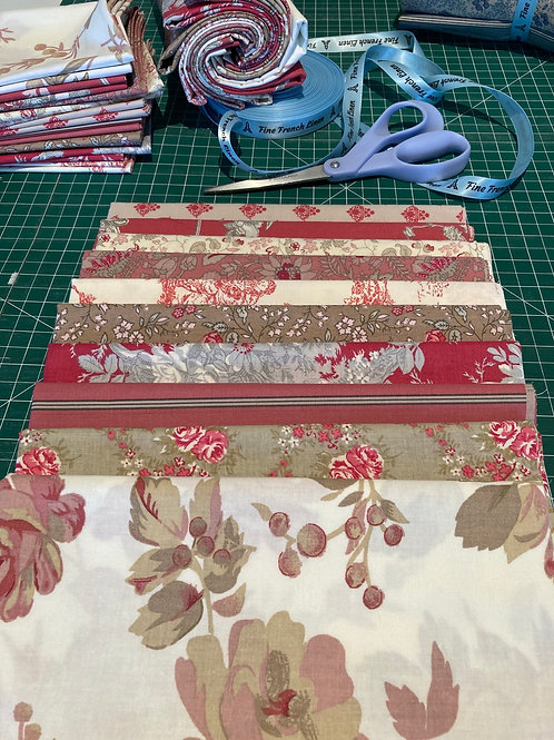 All Cotton Red Half Metre Bundle